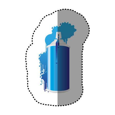 blue can aerosol sprays icon, vector  design