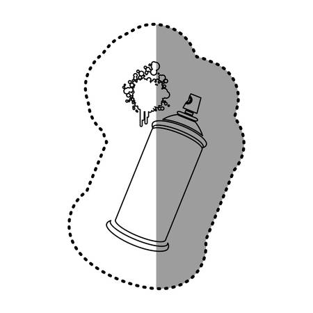 contour aerosol sprays with a stain icon, vector design