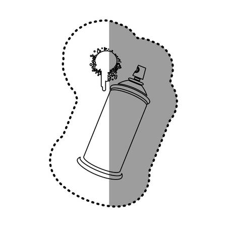 contour aerosol sprays with a stain icon, vector  design Illustration
