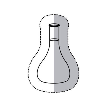health care analytics: contour clinical analysis icon, vector illustraction design Illustration