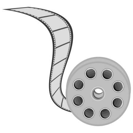darkroom: color movie film clipart icon, vector illustraction design image