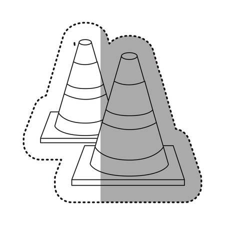 figure traffic cones icon, vector illustraction design image Illustration