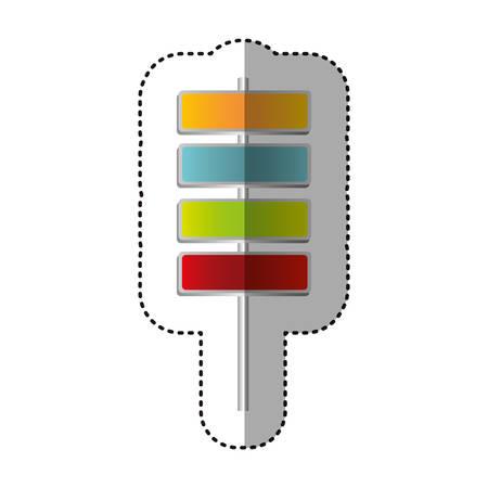 color square route advices icon, vector illustraction design