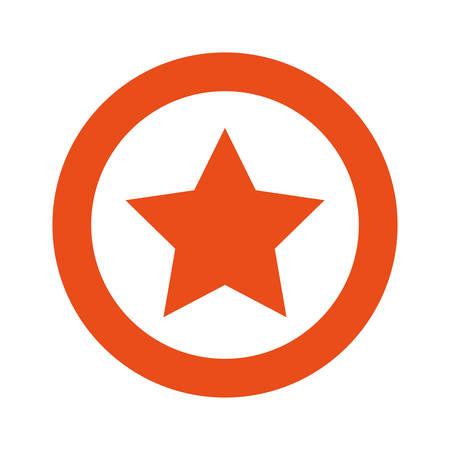 orange symbol star icon, vector illustraction design