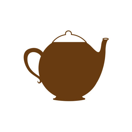 brown silhouette teapot icon drink vector illustration Illustration
