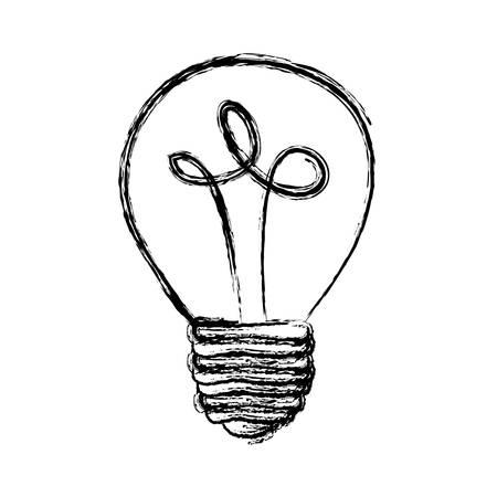 monochrome blurred silhouette of light bulb vector illustration