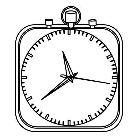 elapsed: monochrome stopwatch in shape square vector illustration Illustration
