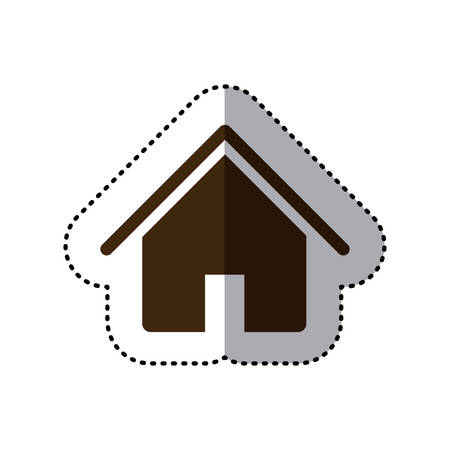 brown house icon image, vector illustration design