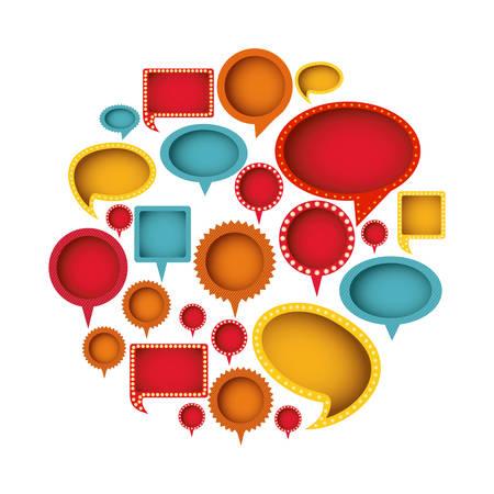 differents figures cah bubbles icon, vector illustration design