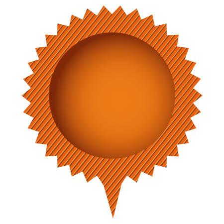 orange cloud circle chat bubble, vector illustration design