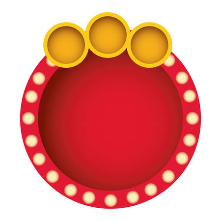 red round bubble with circle icon, vector illustration design