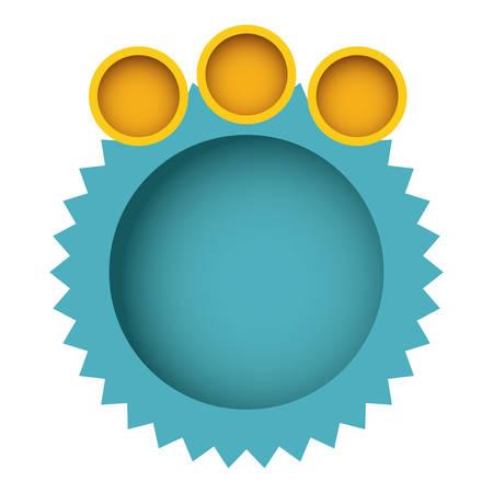 blue clound circle bubble with circles, vector illustration design