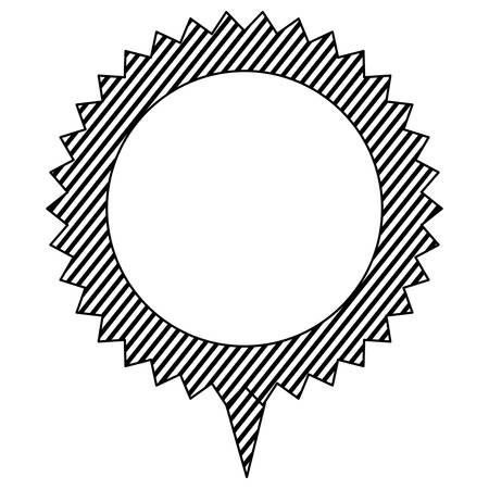silhouette cloud circle chat bubble, vector illustration design