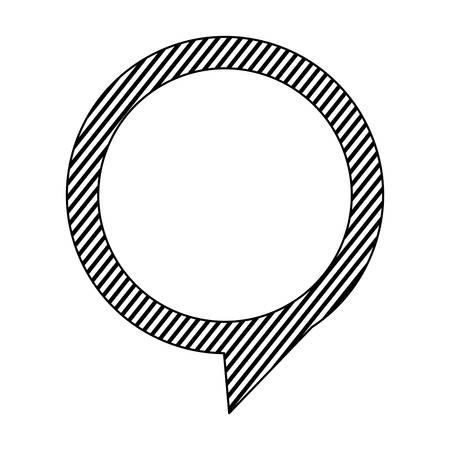 silhouette chat circle bubble icon, vector illustration design