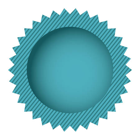 blue circle cloud chat bubble, vector illustration design