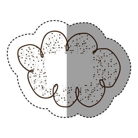 contour clound network service icon, vector illustration design