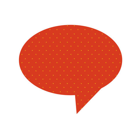 red chat oval bubble icon, vector illustraction design