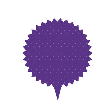 thought balloon: purple chat star bubble icon, vector illustration design