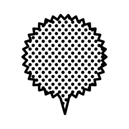 figure chat star bubble icon, vector illustration design
