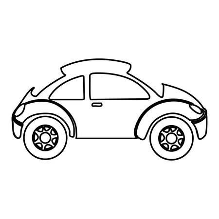 sunroof: figure sport car side icon, vector illustration design