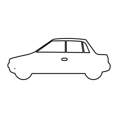 sunroof: figure car side icon, vector illustration design