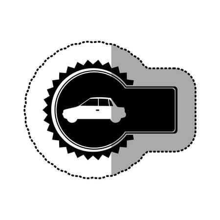 sunroof: black emblem car side icon, vector illustration design