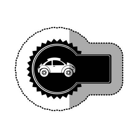 sunroof: black emblem sport car side icon, vector illustration design