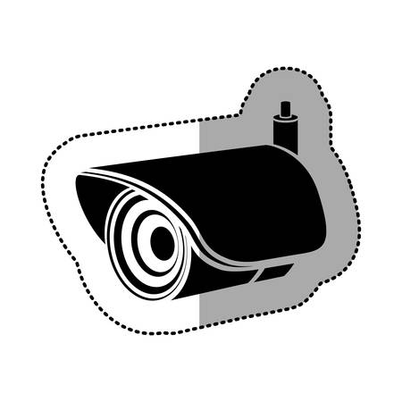 contour exterior video camera icon, vector illustration design