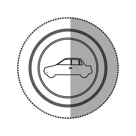 sunroof: figure round emblem side, car icon, vector illustration design