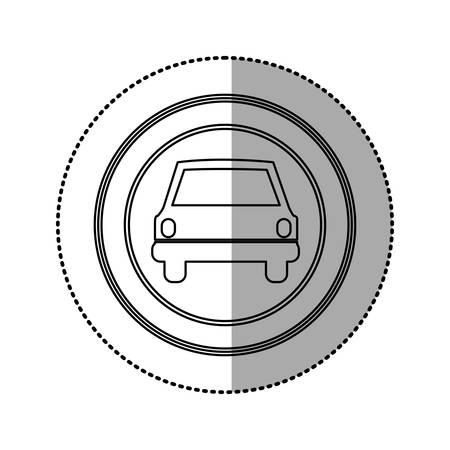 sunroof: figure emblem round front car icon, vector illustration design