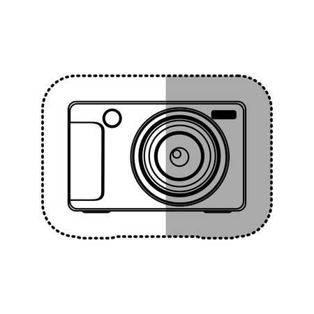 technologic: silhouette technologic digital camera icon, vector illustration design Illustration