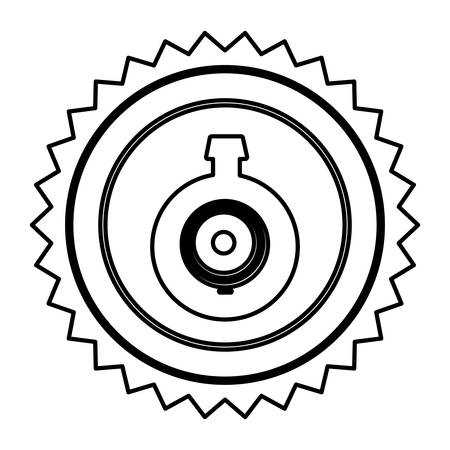 emblem computer camera icon, vector illustration design