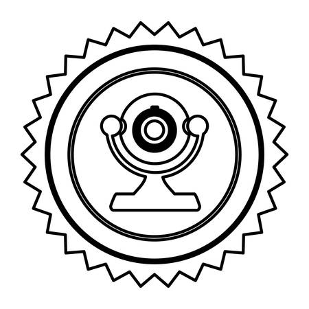 figure emblem computer camera icon, vector illustration design