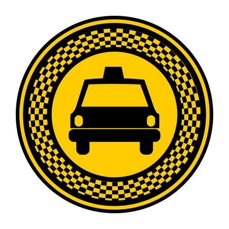 emblem taxi front car icon, vector illustration design