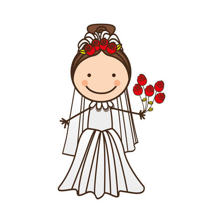 happy woman married icon, vector illustration design Illustration