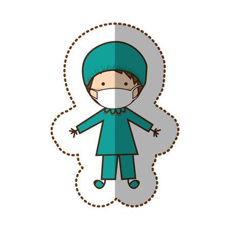 hombre feliz icono médico, ilustración vectorial diseño