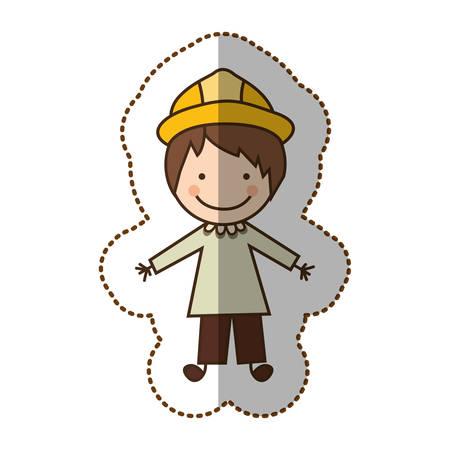 hombre feliz arquitecto icono, diseño de ilustración vectorial Vectores
