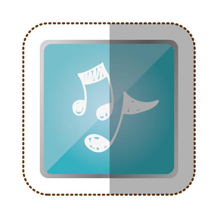crotchet: symbol music sign icon, vector illustration design Illustration