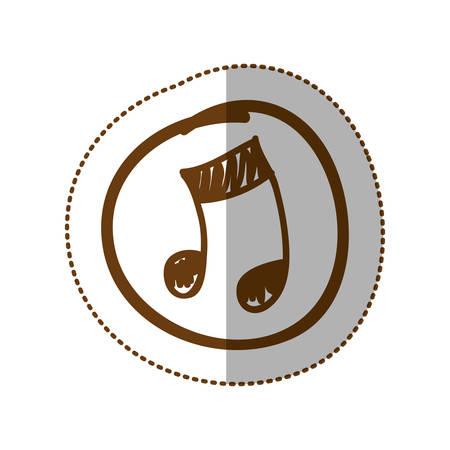 symbol music sign icon, vector illustration design Illustration