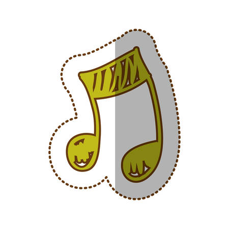 semiquaver: sign music note icon, vector illustration design
