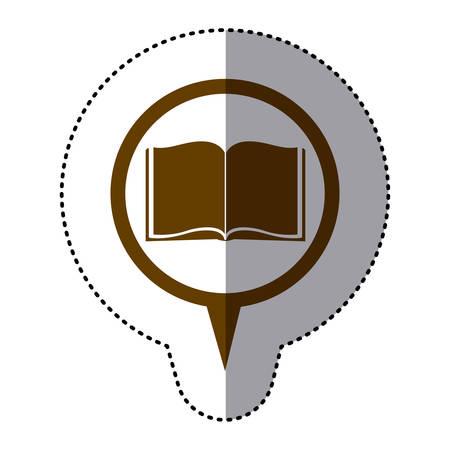 brown book inside the chat bubble, vector illustration design Illustration