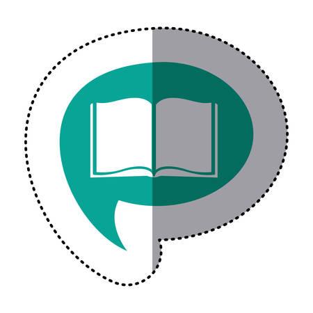 blue book inside the chat bubble, vector illustration design