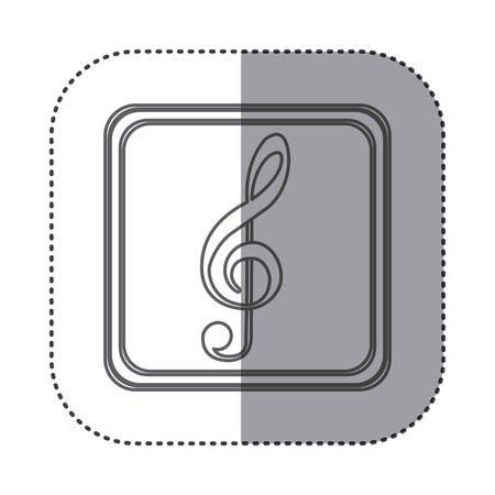 crotchet: figure symbol music sign icon, vector illustration design
