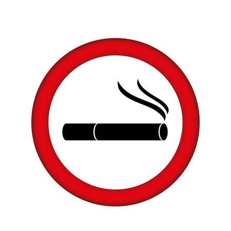 pernicious habit: symbol can smoking icon, vector illustration design