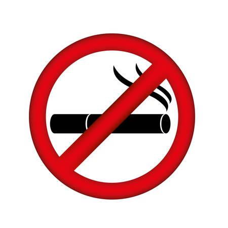 symbol no smoking icon, vector illustration design Illustration