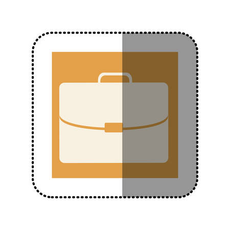 handgrip: color sticker square with executive suitcase icon vector illustration Illustration