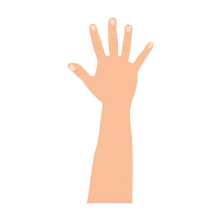 figure hand up icon, vector illustration design Illustration