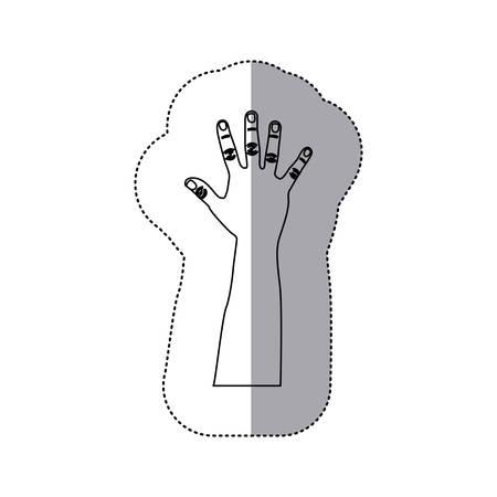 figure person hand up icon, vector illustration design