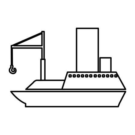 flotation: figure ship maritime transpotation, vector illustration design