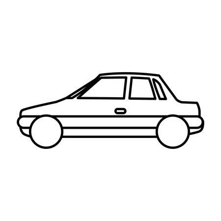 sunroof: figure side car transport, vector illustration design Illustration